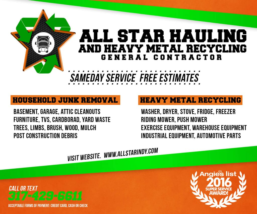 Junk removal business cards images free business cards all star indy junk removal indianapolis in all star ad new magicingreecefo images magicingreecefo Choice Image